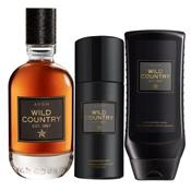 Lot WILD COUNTRY eau de toilette + gel douche + déo