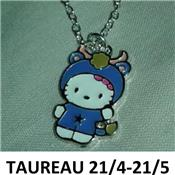Collier Helly Kitty signe du zodiaque Taureau