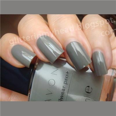 Vernis à ongles gris NEUTRAL GRAY - AVON Nailwear Pro +