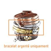 Bracelet Jennifer Sentiment argenté avec breloque Dream