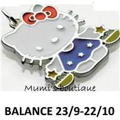 Collier Helly Kitty signe du zodiaque Balance