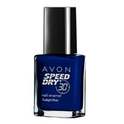 Vernis à ongles à séchage express en 30 secondes TWILIGHT BLUE - AVON Speed Dry