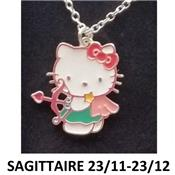 Collier Helly Kitty signe du zodiaque Sagittaire